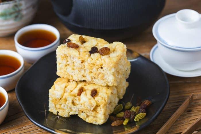 postre chino delicioso