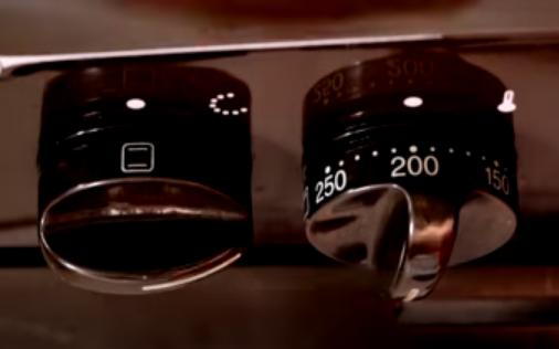 Horno encendido a 200 °C