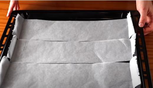Tiras de papel para hornear