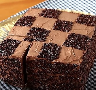 tarta de chocolate lista