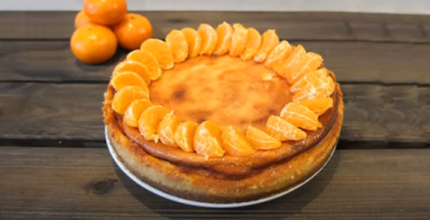 Tarta de mandarina lista