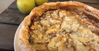tarta de manzana y toffe