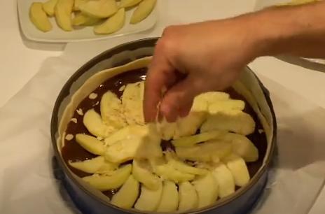 Preparando la tarta